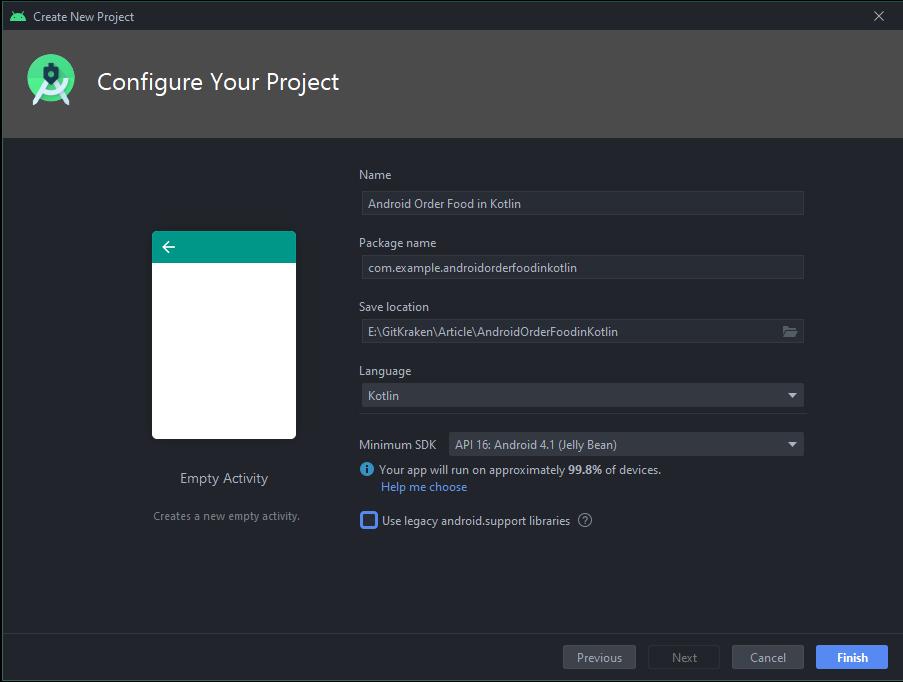 หน้า Configure Your Project