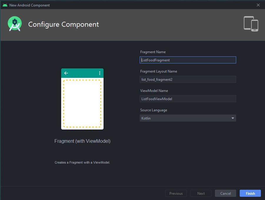 หน้า New Android Component