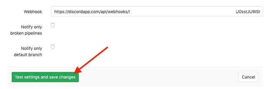 ใส่ webhook url ลงไปแล้วกดปุ่มทดสอบได้เลย