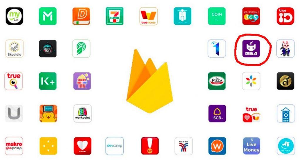 แอพพลิเคชั่นในไทยที่ใช้งาน Firebase อยู่