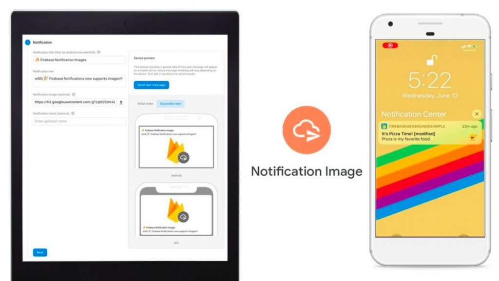Firebase Cloud Messaging รองรับการส่งรูปขนาดใหญ่
