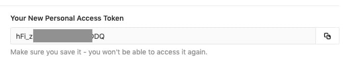 access token จะแสดงออกมาครั้งเดียว
