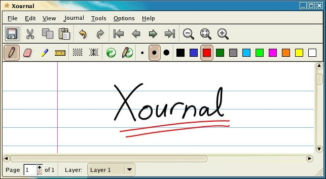 Xournal application
