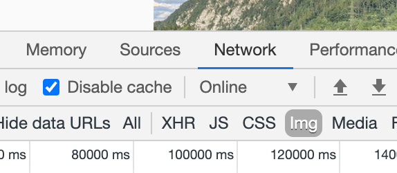 chrome network tab