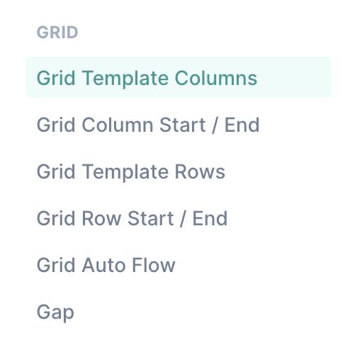 tailwind grid menu